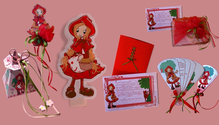 Inviti bomboniere capuccetto rosso  /  prosklitiria bombonieres kokinoskoufitsa