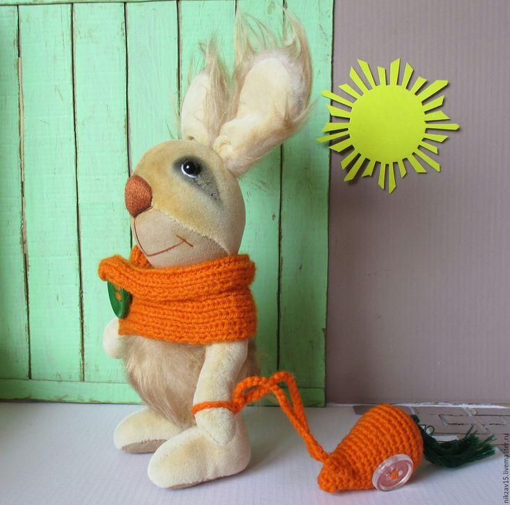 Купить Заяц Мартин - бежевый, коричневый, заяц, зайка, тедди, тедди заяц, тедди зайка
