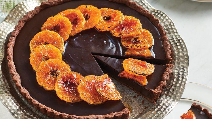 Caramelized Clementine & Chocolate Tart