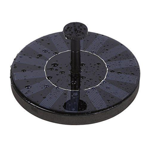 LESHP Fontaine solaire – Pompe à eau solaire Exécute automatiquement Aucun Plantes batterie ou électricité 7V Pompe flottante Eau Panneau…