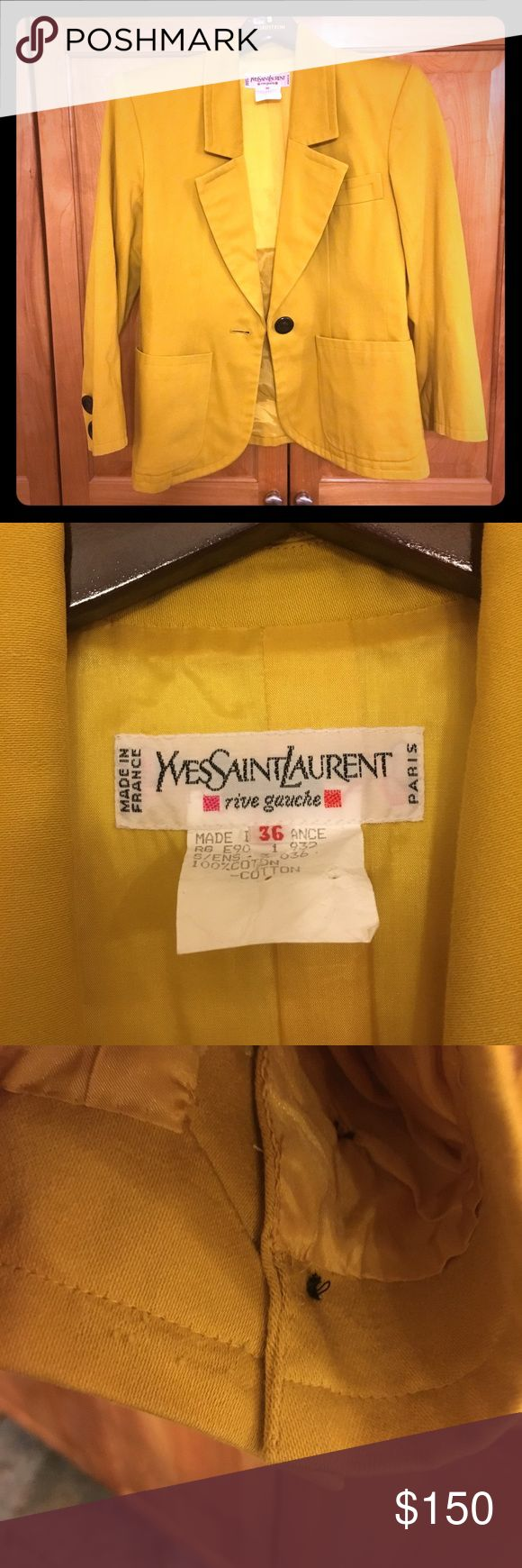 ONE DAY SALE Yves Saint Laurent skirt suit Gorgeous YSL Rive Gauche suit! Size 36. Only visible sign of wear is minimal pilling at sleeve (see photo). Yves Saint Laurent Skirts Skirt Sets