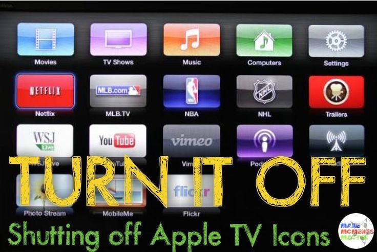 Apple TV at school?  Here's an easy trick for turning off Apple TV icons you don't want to see. So quick and wonderful!