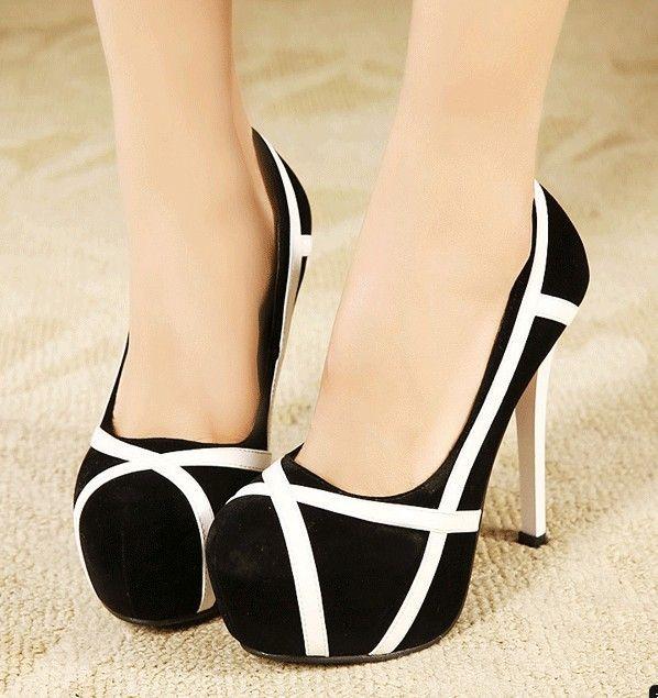 Mixed Colors Stilettos High Heel Shoes