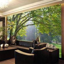 Custom 3d behang foto 3d bos landschap behang mural 3d woonkamer tv achtergrond muur papier papel de parede 3d(China (Mainland))
