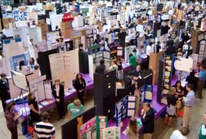 The 63rd annual California State Science Fair will be held in the California Science Center. Start:  April 28, 2014 8:00 am End:  April 29, 2014 5:00 pm at the California Science Center, 323-724-3623 .   700 Exposition Park Drive Los Angeles, 90037 http://www.californiasciencecenter.org  For more info visit the USC California State Science Fair site at http://www.usc.edu/CSSF/