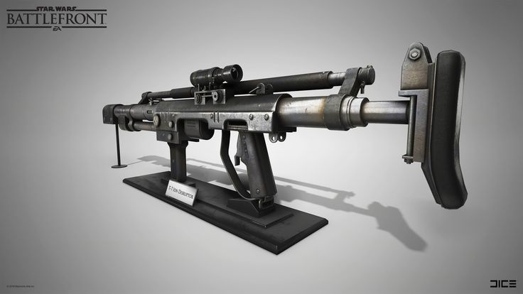 ArtStation - (2015) Star Wars Battlefront - T-7 Ion Disruptor, Carl Palacios