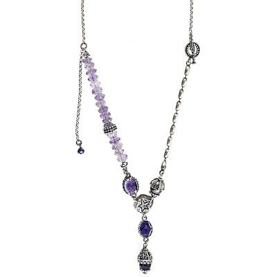 Gem Kingdom - Sterlingsilberkette mit Amethysten