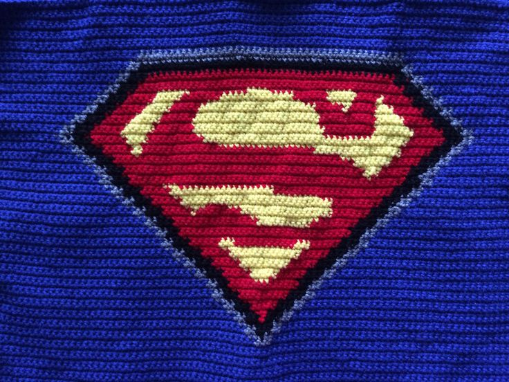 Crochet Superman Blanket Pattern Only Etsy Blankets And