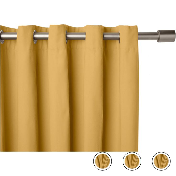 """Wespa Lined Cotton Eyelet Pair of Curtains Mustard, 66 x 72"""" from Made.com. Yellow. NEW Meet Wespa - a collection of beautifully draped curtains and.."""