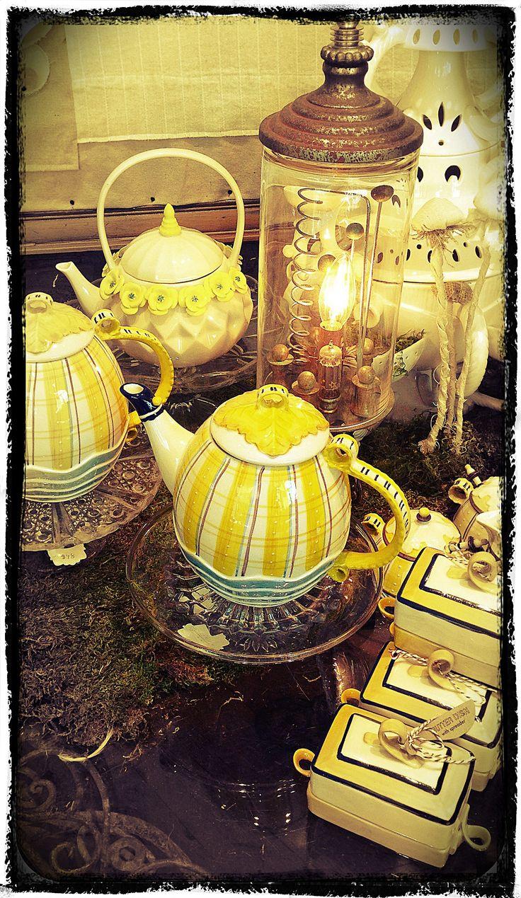 Anthropologie tea set.  Love the colors. #anthrofave #juvenilehalldesign