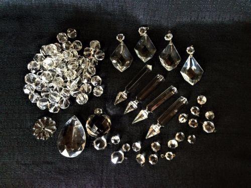 1276 best antique lighting images on pinterest antique lighting lot 85 pcs vintage crystal chandelier glass parts prisms teardrops spears aloadofball Choice Image