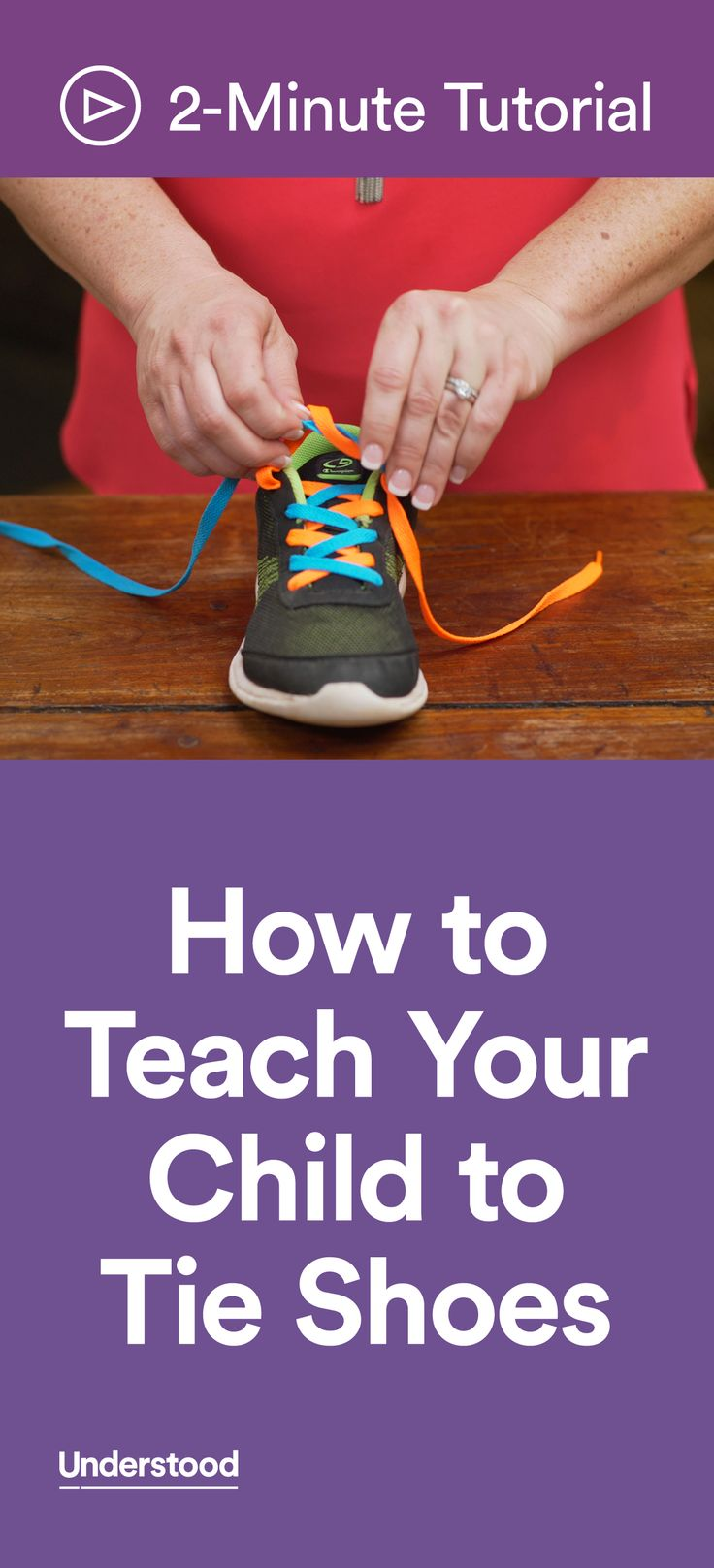 Is your child struggling with tying shoes? Some kids have trouble because of motor skills or coordination challenges. Others can't remember the order of the steps or struggle with following directions. No matter why your child is having difficulty, this unique shoe-tying method can help your child learn to tie shoes on his own.