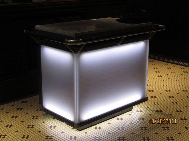 Hostess Stand Kiosk Glass With Led Lighting Restaurant