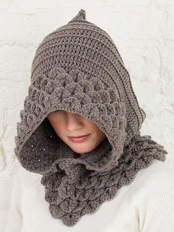 Adorable crocodile stitch crocheted hat