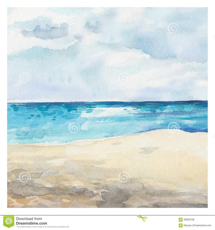 Watercolor Sea Background - Download From Over 53 Million High Quality Stock Photos, Images, Vectors. Sign up for FREE today. Image: 56902158