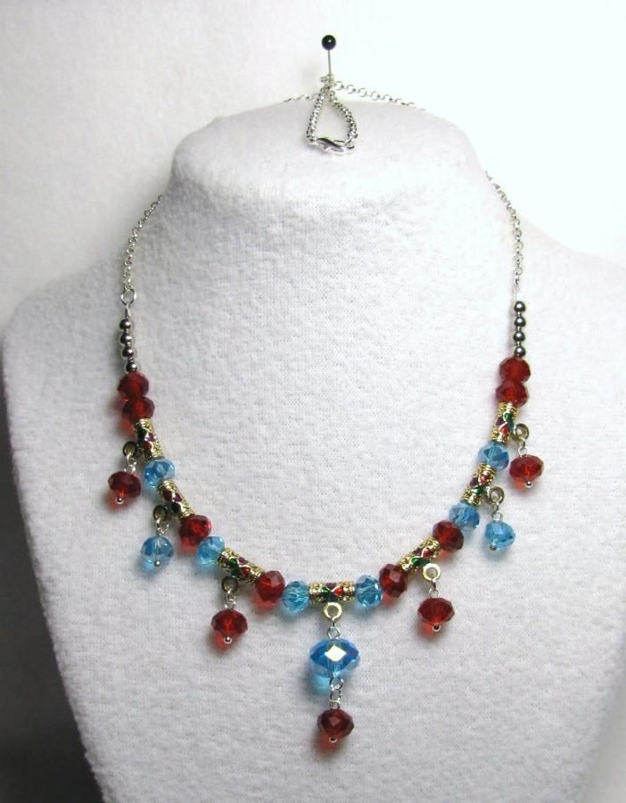 Crystal Jubilee Drops - Jewelry creation by Linda Foust