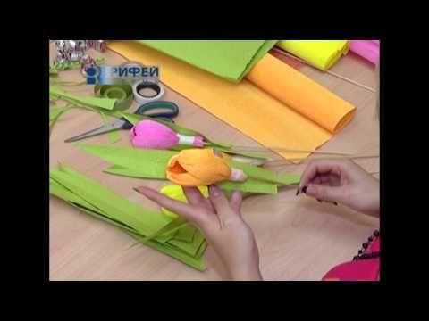 Школа дизайна №20 Сладкий букет тюльпанов 2 10 13 - YouTube