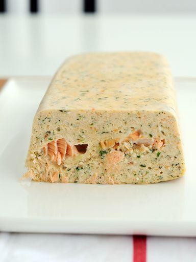 Terrine de saumon rapide - Recette de cuisine Marmiton : une recette