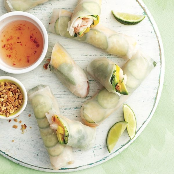 Keep a bag of cooked shrimp in the freezer and a no-cook meal is just minutes away. Get this recipe for salad rolls and more at Chatelaine.com