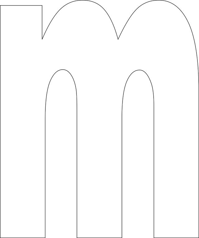 Free Printable Lower Case Alphabet Template: m - Free Printable Lower Case…