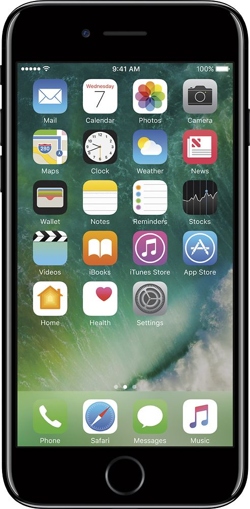 Apple - Geek Squad Refurbished iPhone 7 128GB - Jet Black (At&t)