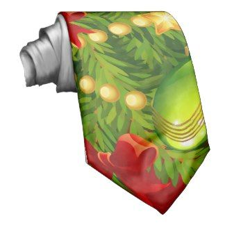 Green Christmas Tree Custom Tie