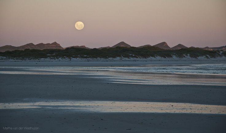 Full Moon over Franskraal, South Africa