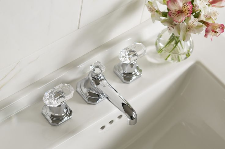 For Loft By Michael S Smith Basin Faucet Set With Crystal