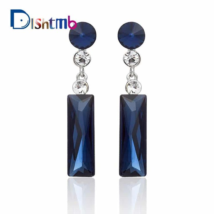 Ladies Brand Fashion Dangle Jewelry Big Drop Blue Stone Earrings //Price: $10.95 & FREE Shipping //     #style