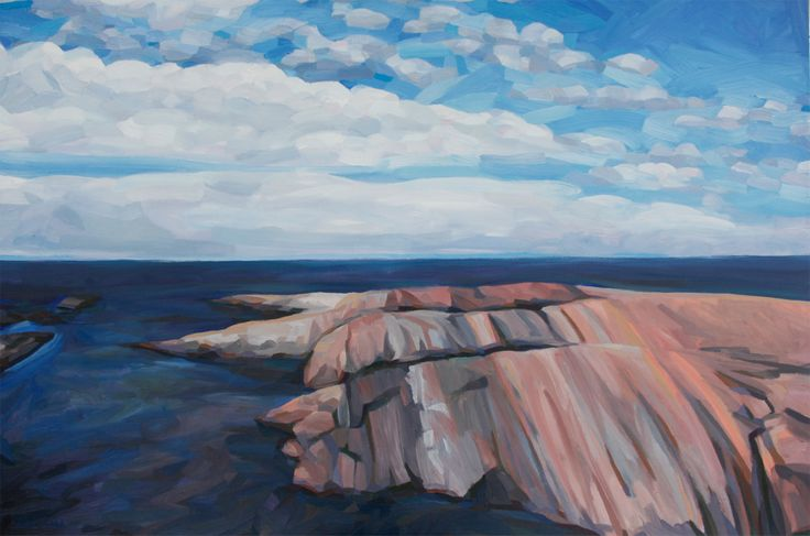Armstrong Rock #2 Oil on Canvas 48 X 60