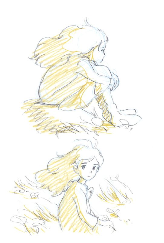 "Character Design References Website : ""the borrower arrietty 借りぐらしのアリエッティ studio ghibli"