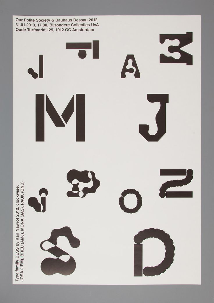 obsessivecd: Announcement poster for our presentation of the Bauhaus project at the Special Collections of the University of Amsterdam.  TYPOGRAPHY // PRINT