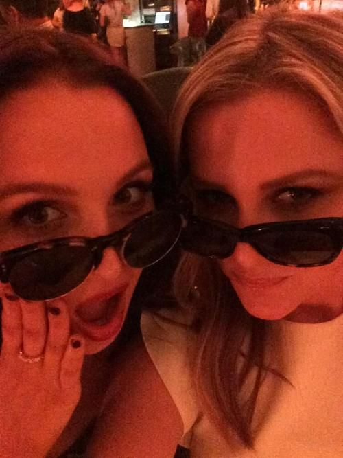 Camilla Luddington (Jo Wilson) & Jessica Capshaw (Arizona Robbins) selfie at the ABC Twitter party. Grey's Anatomy. [JCap's Twitter]
