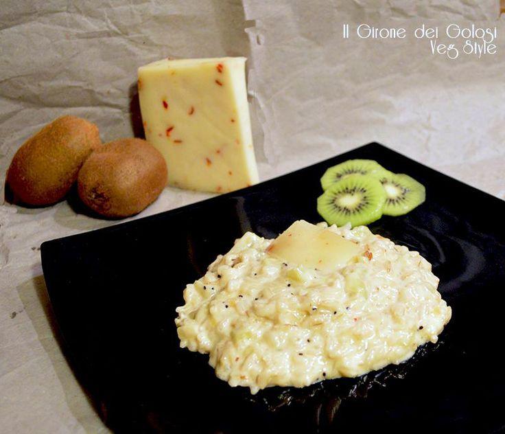 Risotto al Kiwi con formaggio Piccantino