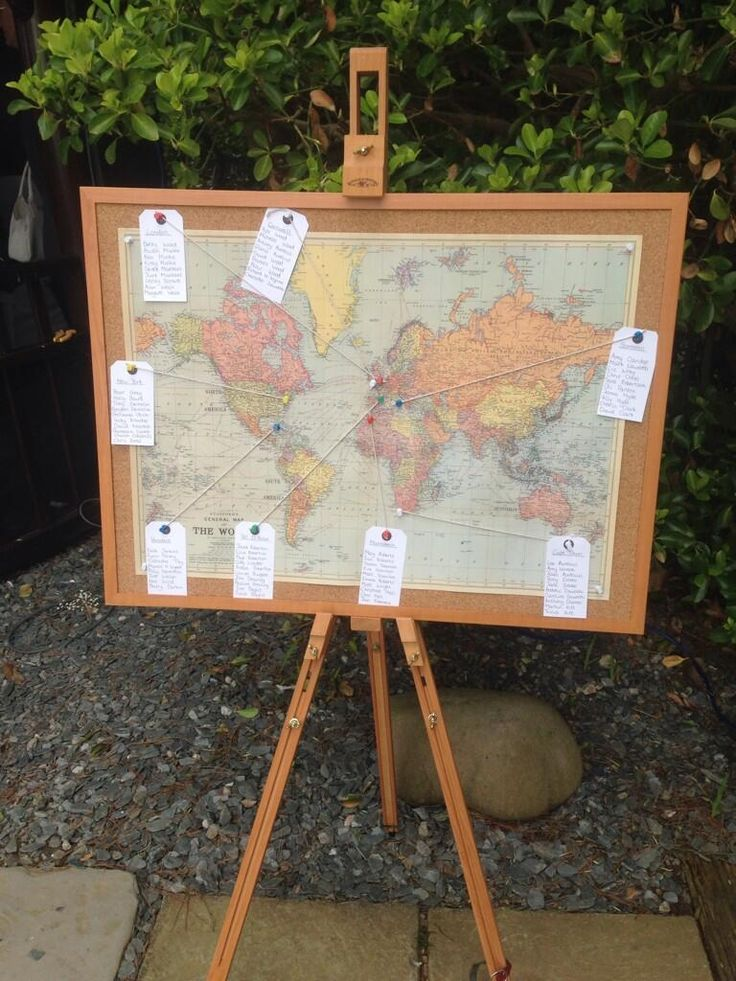 Another great world map themed wedding table plan!