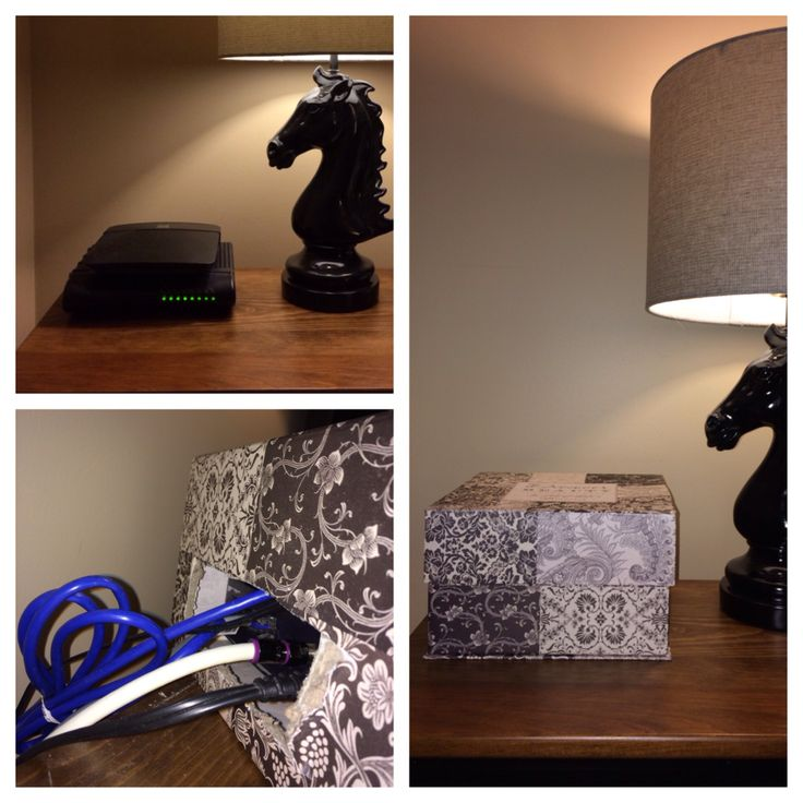 Decorative Box To Hide Cords : Best images about router on hide cable box