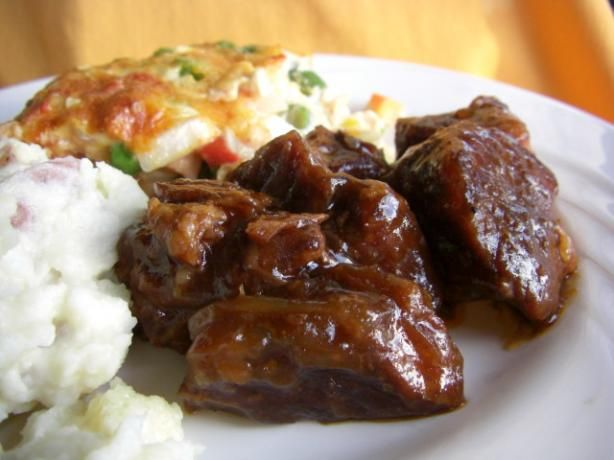 "Crock Pot Barbecue Country Ribs: ""Makes a sweet sauce that is nicely sticky so have lots of napkins! Great for days when the weather isn't good enough to grill outside!"" -Sue Lau"