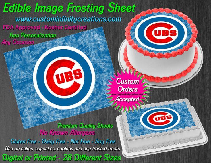 Chicago Cubs Baseball Edible Image Frosting Sheet 40 Cake