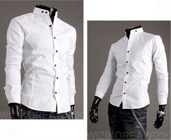 Mens White Shirts Fashion Fitted Stylish Trendy Casual Designer ...