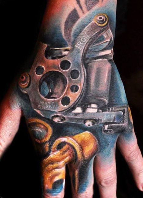 Realistic Machine Tattoo by Max Pniewski | Tattoo No