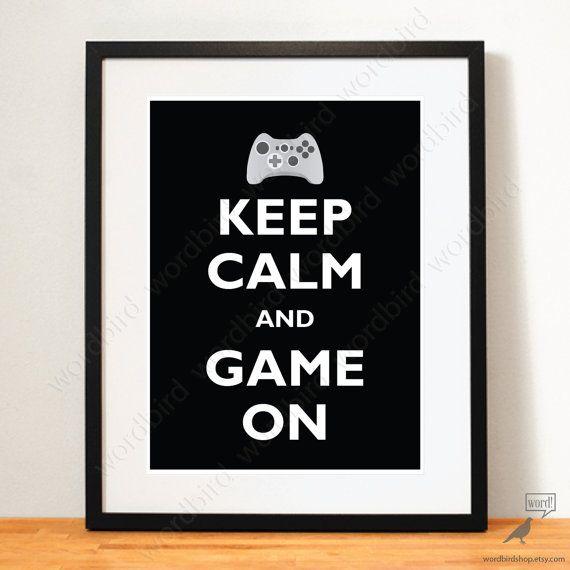 Geschenk für ihn Boys Raum Dekor Videospiel-Poster von WordBirdShop