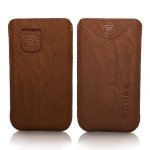 New Snugg iPhone 5 Case - High Quality Leather Pocket Cover with Card Slot, Elastic Pull Strap and Premium Nubuck Fibre Interior ('Distressed' Brown) including Lifetime Guarantee - From Snugg, The creators of the number 1 selling iPad 2 & 3 caseInclude Lifetime, Covers Cases, Cards Slot, Interiors Distressed, High Quality, Iphone, Elastic Pulled, Leather, Fibre Interiors