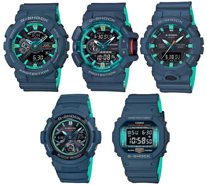 0599642a06f G-Shock Navy Blue Accent Series November 2018