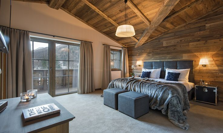 Spacious double bedrooms #corporate #luxurychalet #stanton #skiholiday