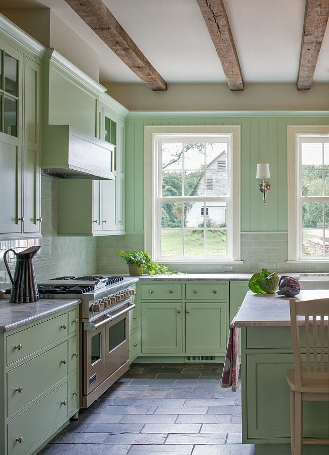 Unique Seafoam Green Kitchen Cabinets