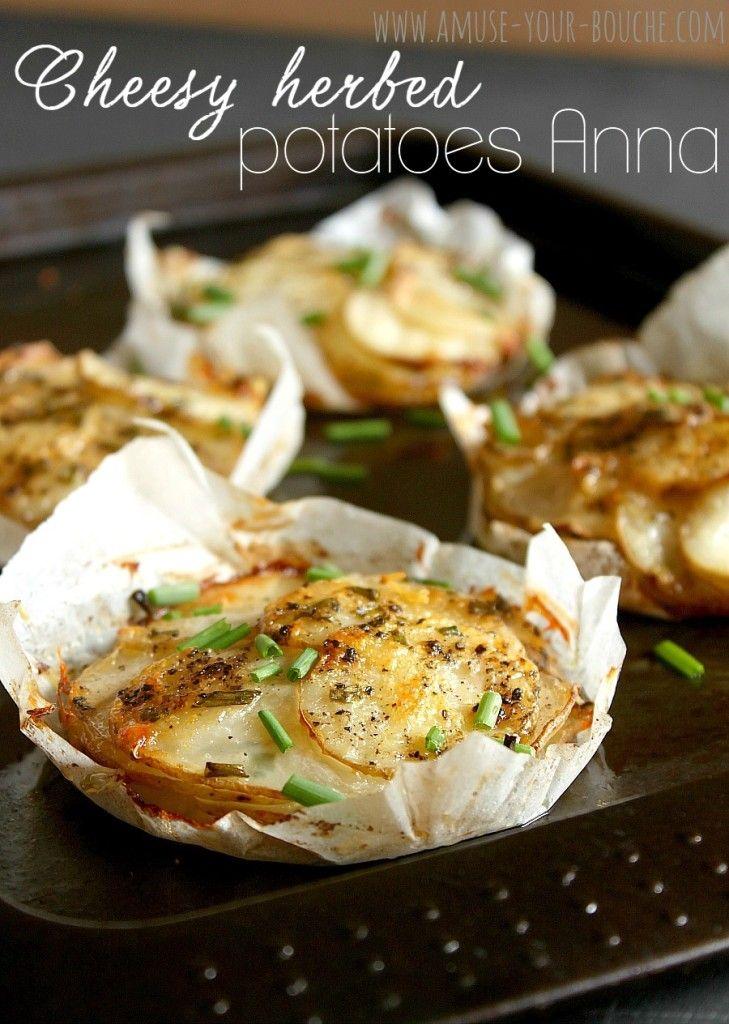 Cheesy herbed potatoes Anna