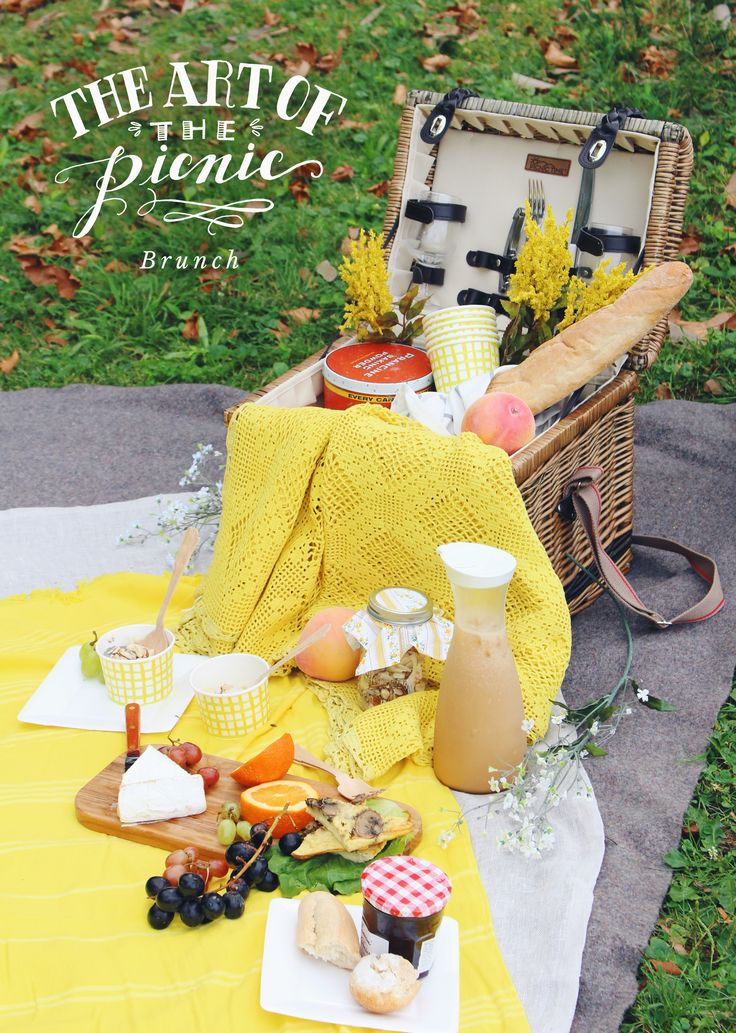 Chic picnic for a girl's day or date outside. Bring the basket and see what goodies should go inside. Ideas and inspiration for a picnic outing.