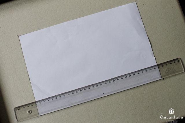Faça você mesma, paspatur com papelão Paraná, muito fácil e barato de fazer.