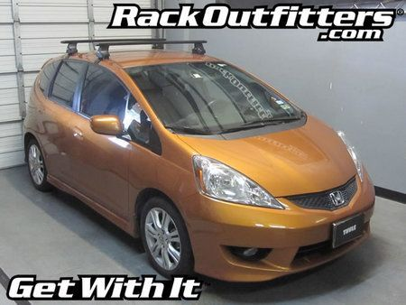 Honda Fit and Fit Sport Thule Rapid Traverse BLACK AeroBlade Roof Rack
