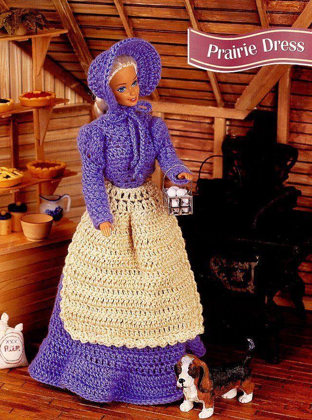 Prairie Dress for Barbie Doll Annie's Crochet Pattern -30 Days To Shop & Pay!